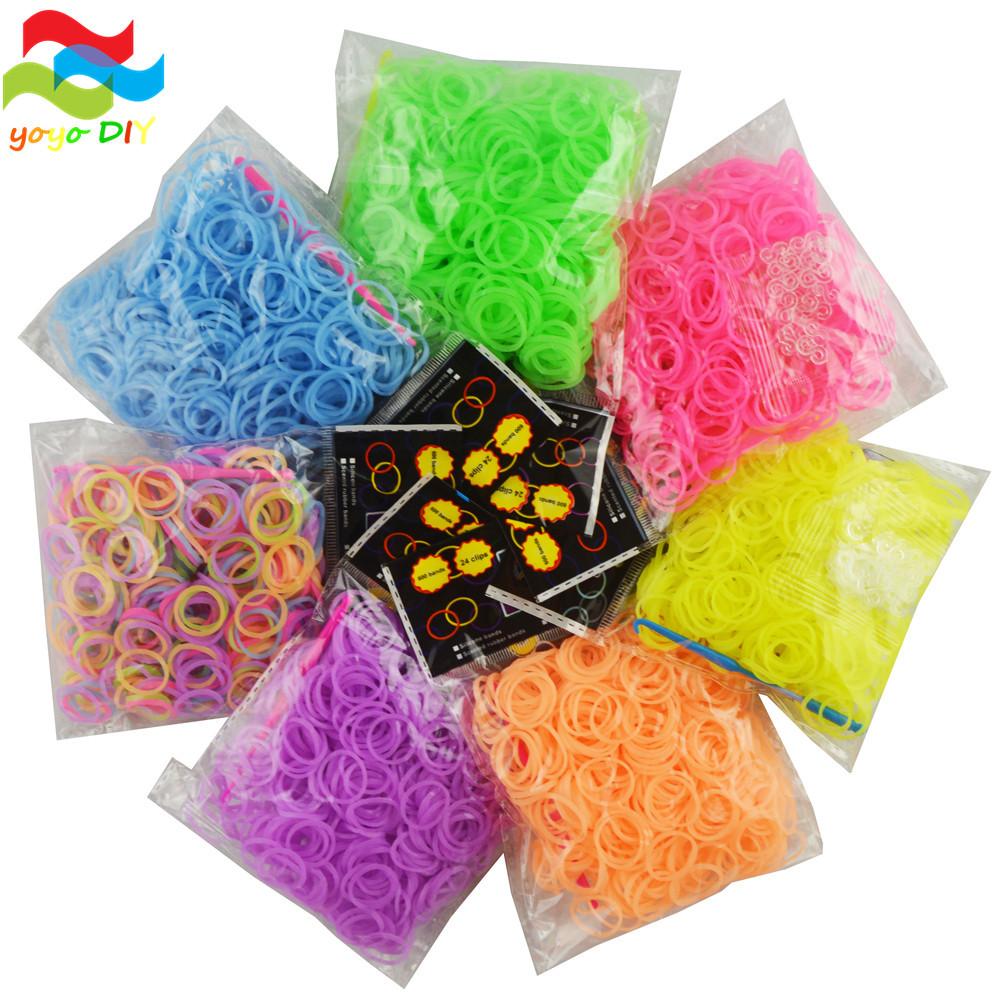 Резинки для плетения браслетов 600 штук. фото