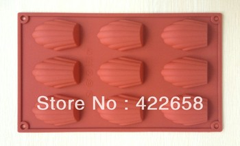 Free Shipping DIY Shell Shaped Silicone Cake Mold /Silicone Chocolate/Madeleine mold /Kids Christmas bakeware