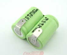 Ni-MH 2/3A 2.4V 1300mAh Rechargeable Battery Pack W/Tabs for Shaver razor 2SBT(China (Mainland))