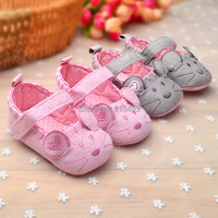 New Arrival 3 pairs/Lot Fashion grey cartoon pattern baby casual shoes soft sole children's pre walkers 3372