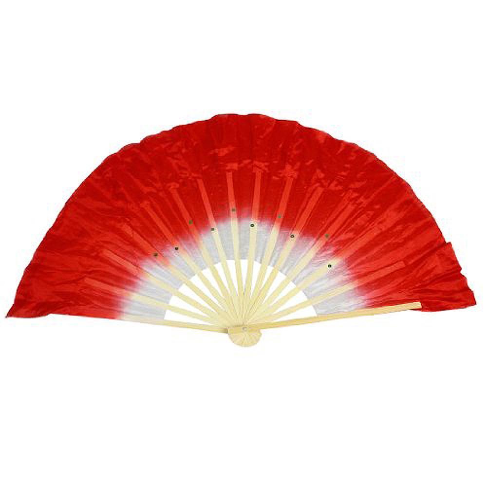 Гаджет  JFYB,Beige Bamboo Ribs Flutter Fabric Chinese Folk Dancing Hand Fan Red White None Изготовление под заказ