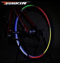 Factory production21701 TECHKIN bicycle tires reflective stickers / Dead flywheel hub stickers / mountain bike rims Ri(China (Mainland))