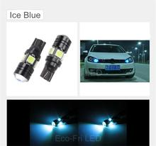 2x High Power White Ice Blue 168 W5W T10 Led with Projector Lens Car Styling Light Source Parking Led for Ford Focus For Cruze
