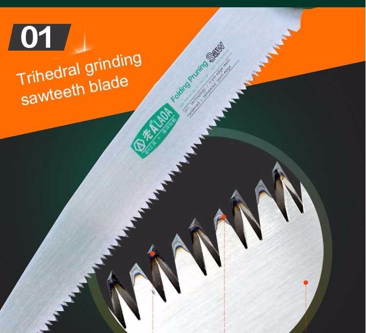 LAOA SK5 Folding Saw High Quality Alloy Steel Handwork Saw Blade 250MM Garden Carpenter's Saw
