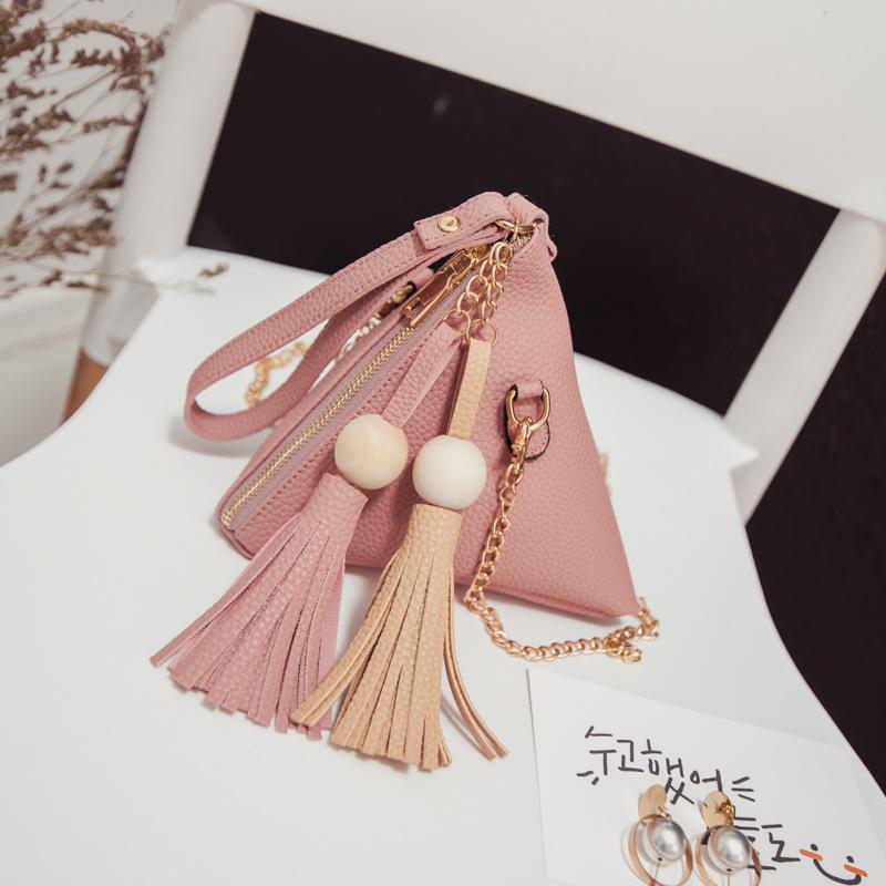 Cheap Fashion Small Purse Fringe Bag Ladies Wallet Triangle Women's Clutches Casual Leather Handbags Sac a Main Femme De Marque(China (Mainland))