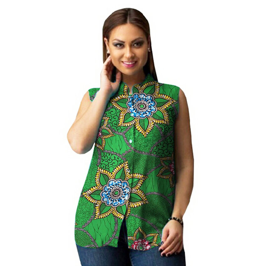 African printed dashiki tops element women african shirts custom made african clothes(China (Mainland))
