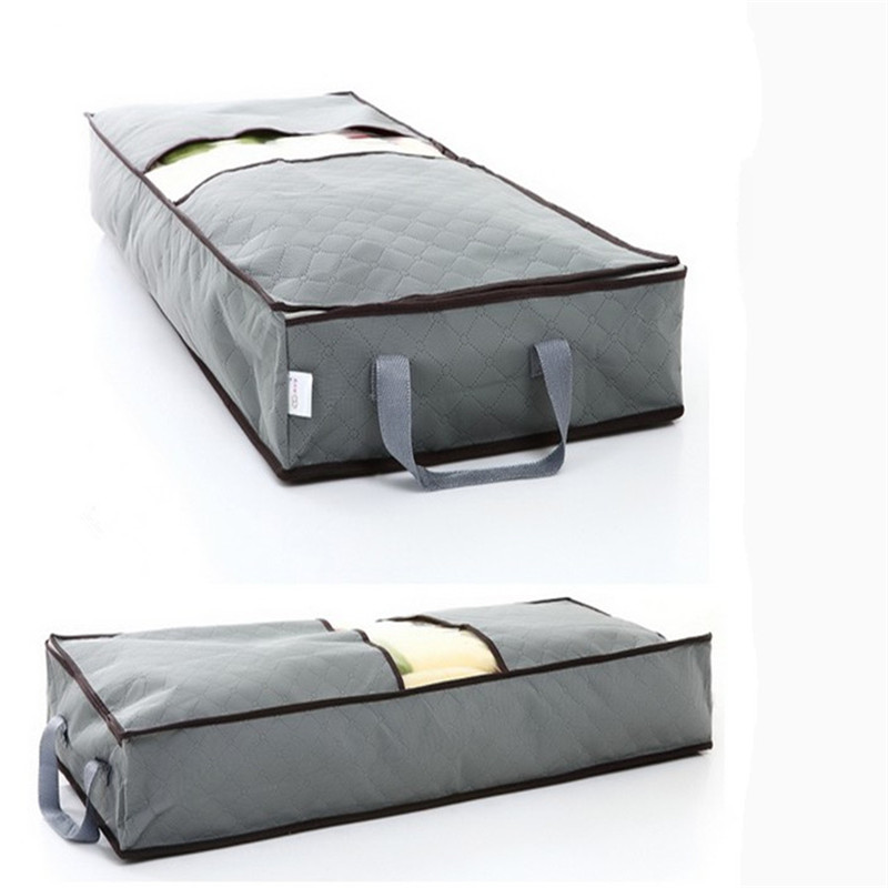 New 70L Non-woven Storage Bag Home Save Space Organizader Underbed Closet Storage Box Clothes Boxes Clothing Bag G125-A(China (Mainland))