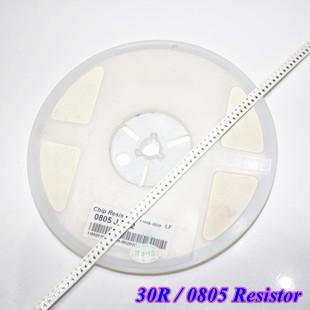 Free shipping! 500pcs/lot 1% SMD 0805 Resistors , 0805 /30R 30R0 Chip resistor(China (Mainland))