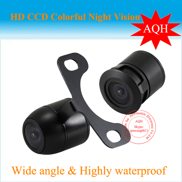 Car Rear View Reverse Backup Waterproof NTSC system CCD Camera,free shipping Wholesale,Install with 2 Options(China (Mainland))