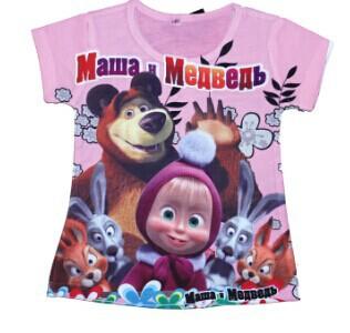 Baby Girls Hello Kitty Short Sleeve T shirt Children Summer Despicable me Clothes Kids T-shirt Dora t Shirts for Girls(China (Mainland))