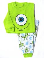 Retail 2-7yrs 100% cotton monster.high children sleepewear baby clothing pijamas kids pajama sets girls boys pyjamas