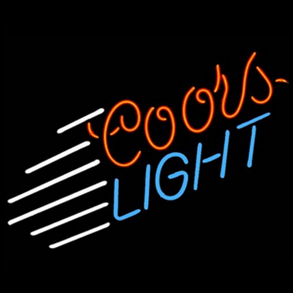 RG Neon Sign Coors Light Blue Stripe Handcrafted Neon Sign Beerbar Sign Neon Beer Sign 19x15(China (Mainland))