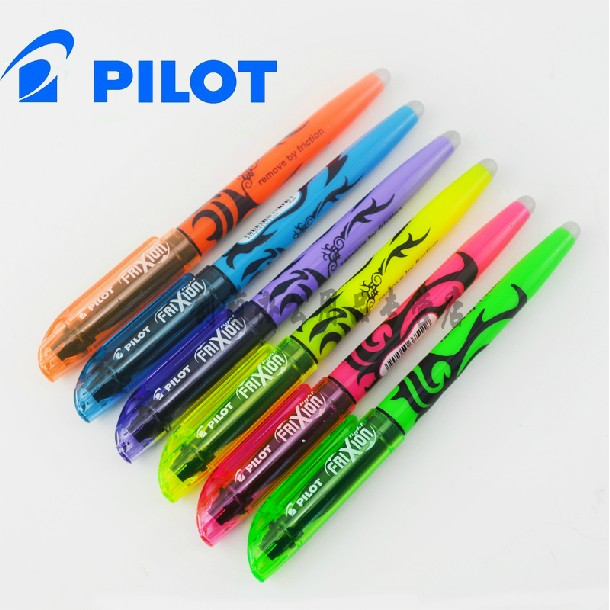 PILOT brand erasable highlighters Non-toxic 6 colors marker pen school&office supplies stationery