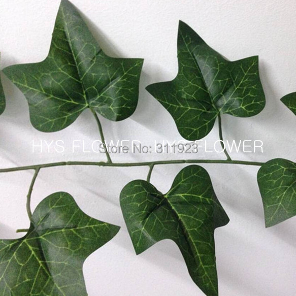 free shipping artificial Green Ivy leaves garland artificial decorative vines artificial ivy vines(China (Mainland))