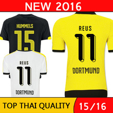 Free shipping 2015 2016 borussia dortmund 15 16 soocer jerseys Top Thai quality Reus Hummels Football Shirts camisetas de futbol(China (Mainland))