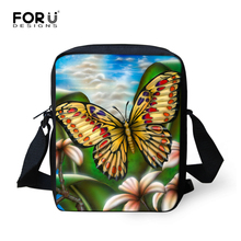 High Quality Women Messenger Bags Mini Butterfly Printing Shoulder Handbag Girls Crossbody Bag Casual Female Messenger-Bag Mujer