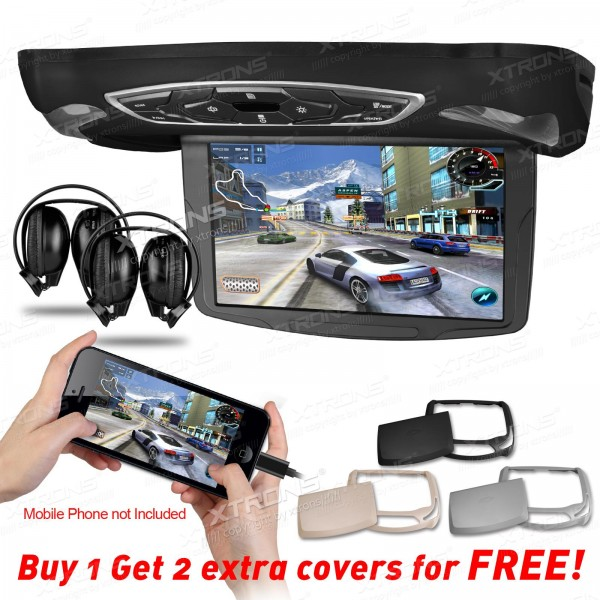 "10.1"" HD Digital TFT Flipdown Roof Mounted car DVD Player with HDMI Input + 2 IR Free Headphones(China (Mainland))"