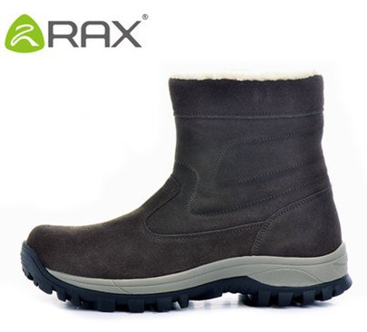 Rax bota masculina men plus velvet snow boots outdoor high wear-resistant thermal cotton-padded shoes men skiing boots(China (Mainland))