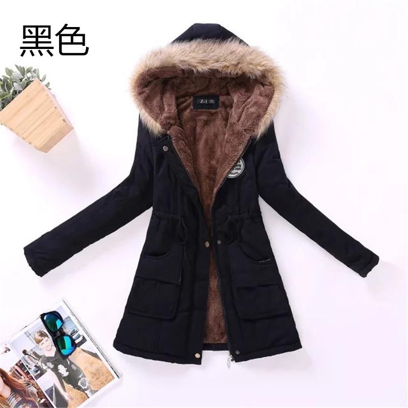 Скидки на 2016 Зима большой размер куртки хлопка женщин большой шерсти воротник капюшоном пальто femme хлопок агнца шерсть тик одежда женщина