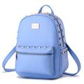 Fashion Preppy Style rivet backpack travel leather mochila hiking tactical women bag laptop bagpack school bag
