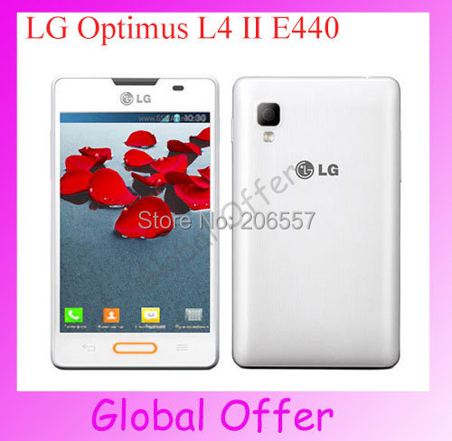 E440 Original Unlocked LG Optimus L4 II Cellphone Camera Wifi GPS Bluetooth FM Mp3 Android OS refurbished(China (Mainland))