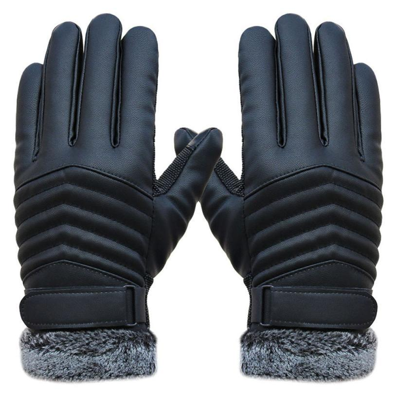 Delicate Men Winter Gloves Men's Leather Gloves driving glove Slip Men Thermal Winter Sports Gloves nor5909(China (Mainland))