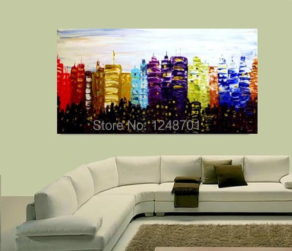 Buy Modern colorful abstract palette knife Oil painting on canvas for wall decor Handmade abstract oil painting cheap