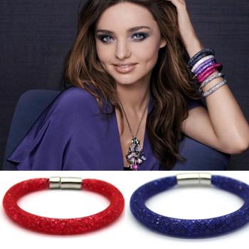 Star пыль браслеты женщины контракт многоцветный кристалл браслеты и браслеты