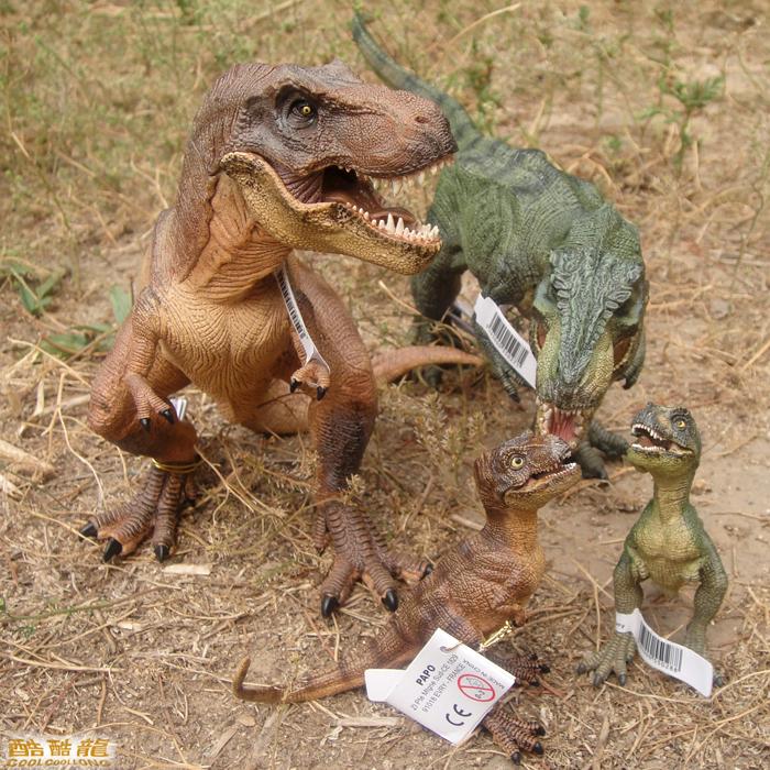 Environmental protection papo kids baby toy anime dinosaur for T rex family