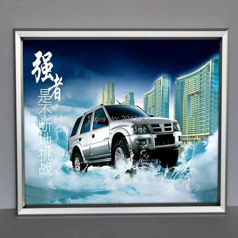 (5units/Lot) Front Loading Anodized Aluminium Snap Poster Frames, Clip Poster Display Framing YAPF-003(China (Mainland))