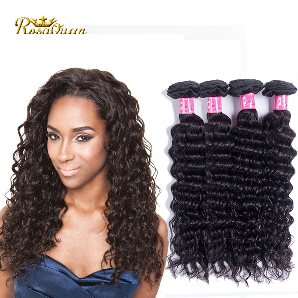 Brazilian Deep Wave Curly Virgin Hair 4pcs Lot Mink Brazilian Virgin Hair Kinky Curly Rosa Hair Company Human Hair Weave Bundles