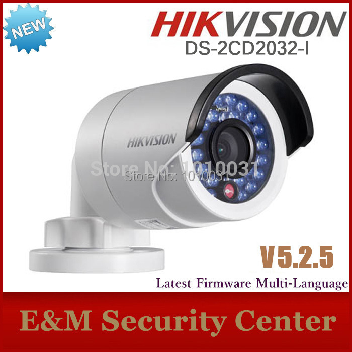 Latest original fast free shipping Hikvision DS-2CD2032-I bullet Camera CCTV camera IP camera mini POE camera DS-2CD2032-I(China (Mainland))