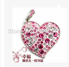 Collectable Jewelry heart USB 2.0 usb flash drive Memory Stick U Disk Festival Thumb/Car/Pen drvies Gift 2GB-32GB S48(China (Mainland))