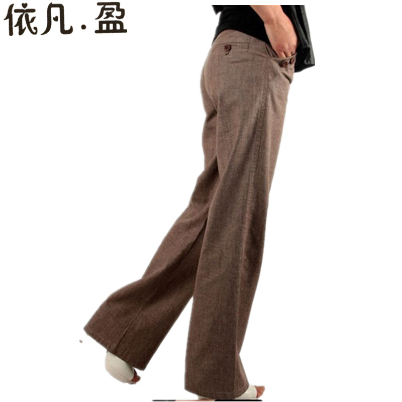 2016Women Linen pants Wide leg Pants Women long trousers Solid Ladies leisure Plus Size 4xl - Top Fashion Mall store