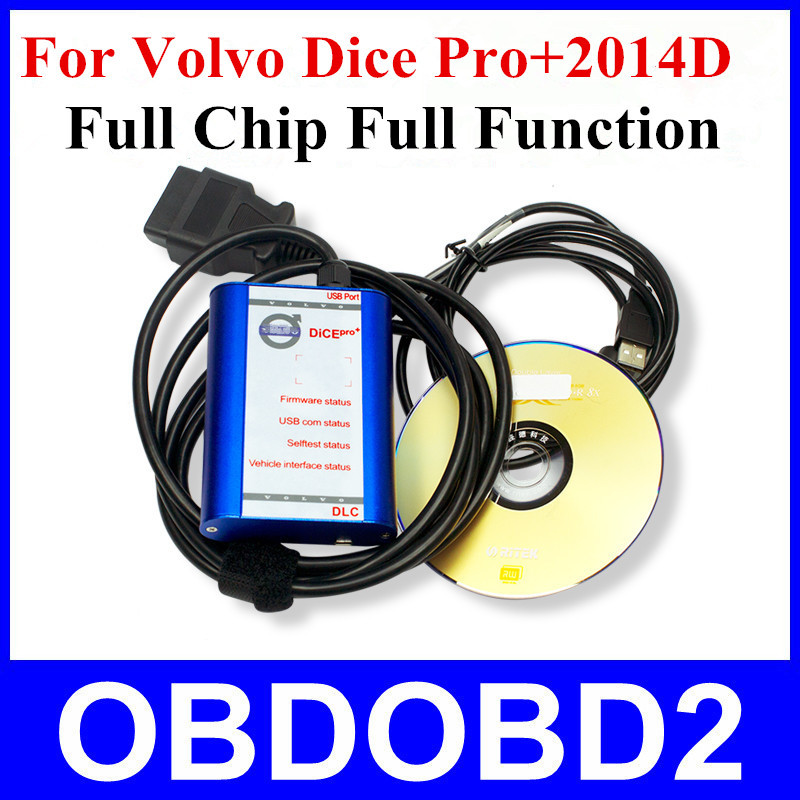 Quality A+++ Full Chip for Volvo Diagnosis Communication 2014D Super for VOLVO VIDA DICE PRO+ Blue Color Plastic Box(China (Mainland))
