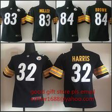 ,youth Pittsburgh Steelers children 32 Franco Harris 83 Heath Miller 84 Antonio Brown Embroidery Logos size S to XL,camouflage(China (Mainland))