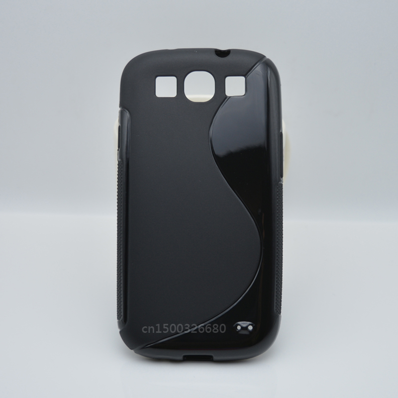 Simple And Fashion TPU Soft Gel S-Line Wave Cover Case For Samsung Galaxy S3 S III i9300 / S3 Duos i9300i / Galaxy S3 Neo i9301(China (Mainland))