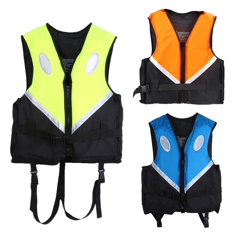 High Quality Professional Water Sports Boating Surfing Swimwear Adult Life Jacket Vest Survival Suit 3 Colors Size L/XL/XXL New(China (Mainland))