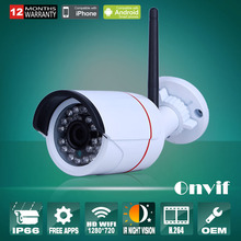 IP Camera WiFi 720P ONVIF Wireless Camara Video Surveillance HD IR Night Vision Mini Outdoor Security Camera CCTV System