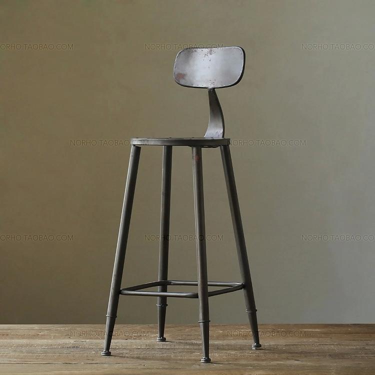American retro bar stools iron antirust Restaurant Cafe