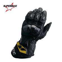 Motorcycle Gloves GP PRO Men Real Leather Long Glove Motocross Protect Gear Cycling Racing Moto Motorbike Luvas Guantes de moto(China (Mainland))