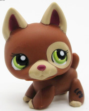 LPS Lovely Pet shop animal dog action figure doll German Shepherd Puppy green eyes #1362
