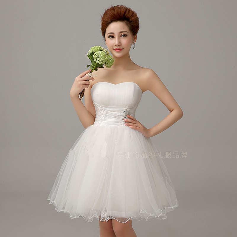 Cute short white wedding dresses images for White wedding dresses cheap