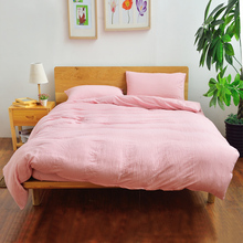 Luxury High Quality Cotton Solid Color Bedding Set Hotel Home Bed Sheet Set Duvet Cover Bedspread Queen king housse de couette(China (Mainland))