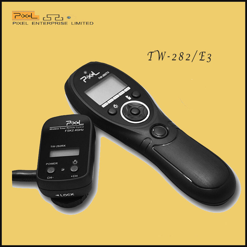 Professional Pixel TW-282/E3 Wireless camera Shutter Release Remote Timer Control For Canon 1000D/550D/500D/450D/400D/350D/300D(China (Mainland))