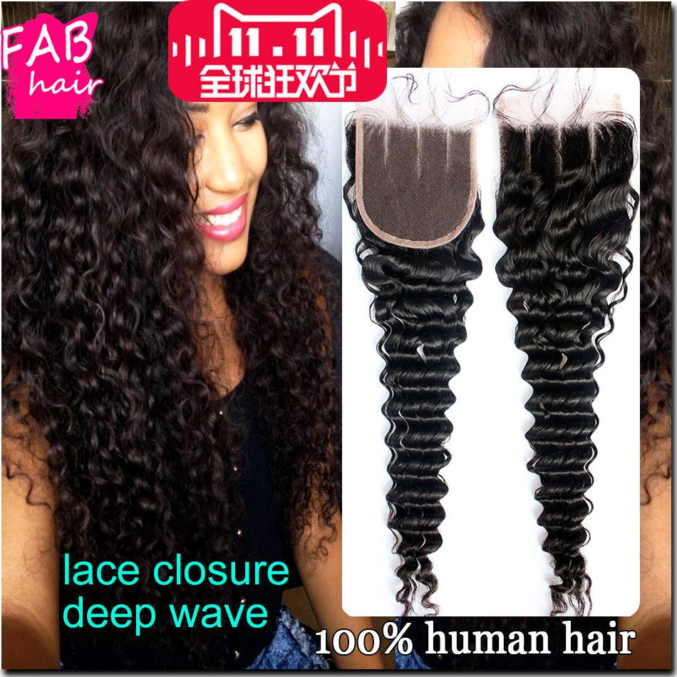 Гаджет  Brazilian Deep Wave Lace Closure Bleached Knot,Virgin Human Hair Lace Front Closure Piece,Brazillian/Brazilian Deep Wave Closure None Волосы и аксессуары