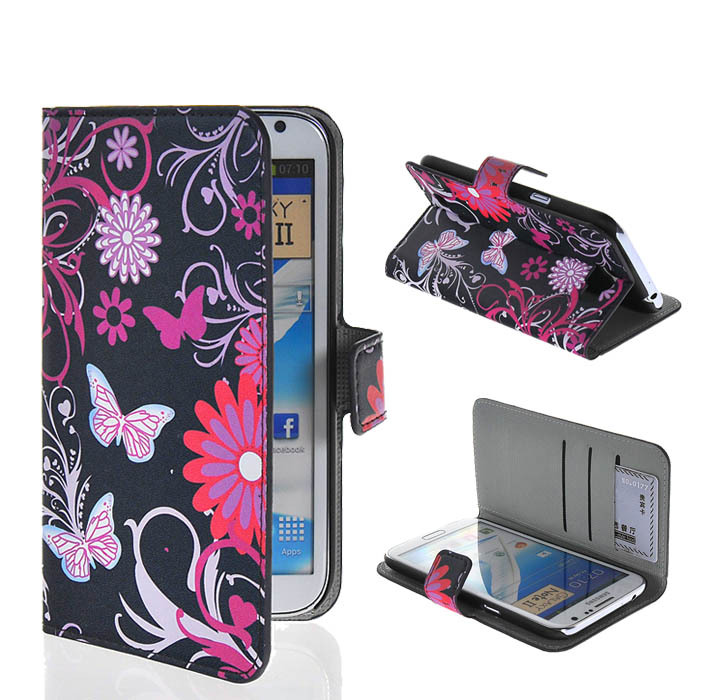 Asia flip cover original unique cover Buy 2 discount 10%! Cases For Samsung Galaxy Note2 Mobile phone bag case Note 2 n7100 7100(China (Mainland))