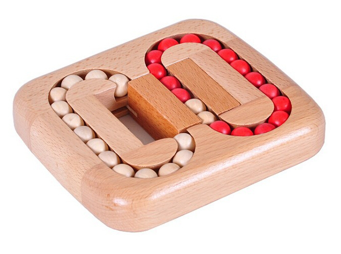 Classic IQ Wooden Beads Puzzle Brain Teaser Wood Game Puzzles for Adults Children(China (Mainland))