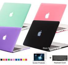 New Matte Rubberized Frosted Case For Macbook Air 11.6 13.3 / Pro 13.3 15.4 Pro Retina 12 13.3 15.4 inch Protector For Mac book(China (Mainland))