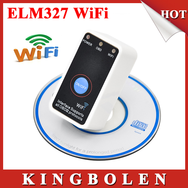 2015 New Super Mini ELM327 Wifi ELM 327 White OBD2 OBD ii CAN-BUS Diagnostic Tool+Switch Works on Android Symbian Windows(China (Mainland))